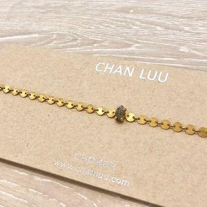 Chan Luu Choker Gold with Green Stone